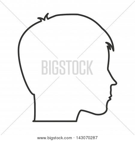 head human profile isolated vector illustration design