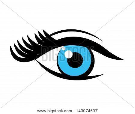 eye pop art isolated icon vector illustration design