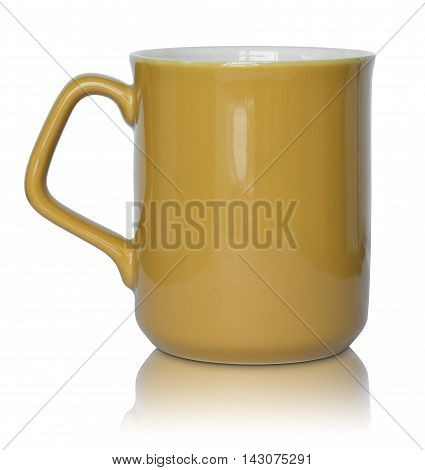 empty cup isolated on a white background