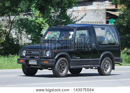 CHIANGMAI THAILAND -JULY 27 2016: Private car Suzuki Caribian. On road no.1001 8 km from Chiangmai Business Area.