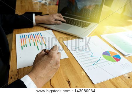 Business Man Write A Maketing Plan