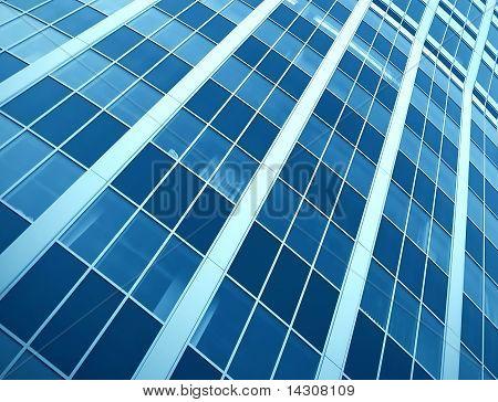 Fassade der modernen Gebäude mit Reflektion von Blue Sky