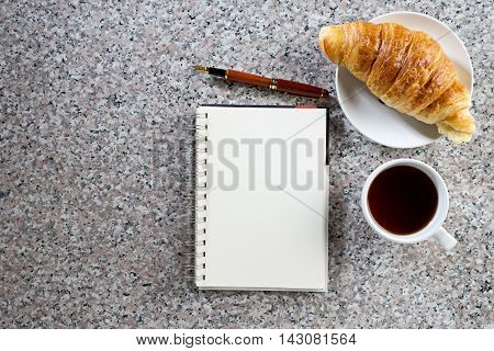 Business Work On Marble Table