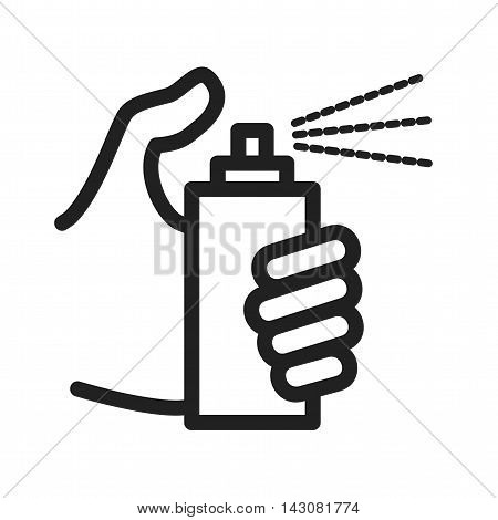 Spray, bottle, cleaner icon vector image. Can also be used for hand actions. Suitable for use on web apps, mobile apps and print media.