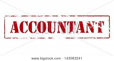 Rubber stamp with word accountant inside vector illustration