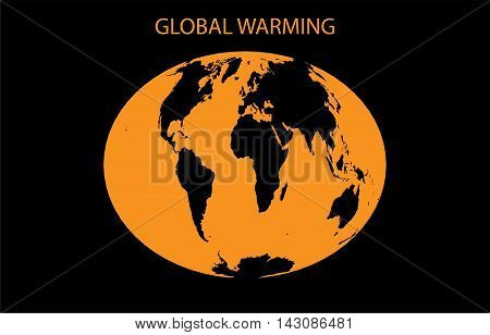 Global Warming background with World map vector