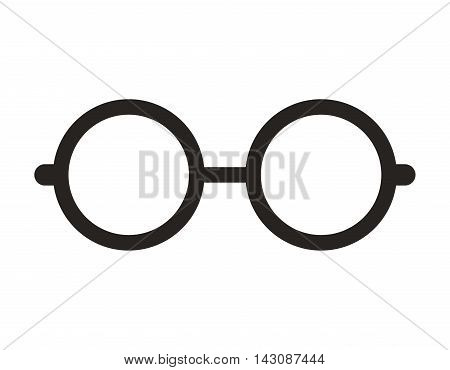 glasses nerd isolated icon vector illustration design