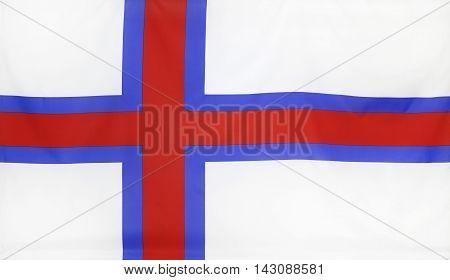 Faroe Islands Flag real fabric seamless close up