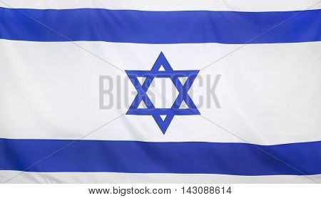 Israel Flag real fabric seamless close up
