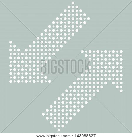 Fine dotted diagonal white arrows. Elements for web, infographic and diagrams
