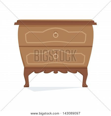Commode furniture vector illustration. Cartoon cabinet isolated on white