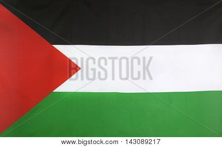 State of Palestine Flag real fabric seamless close up