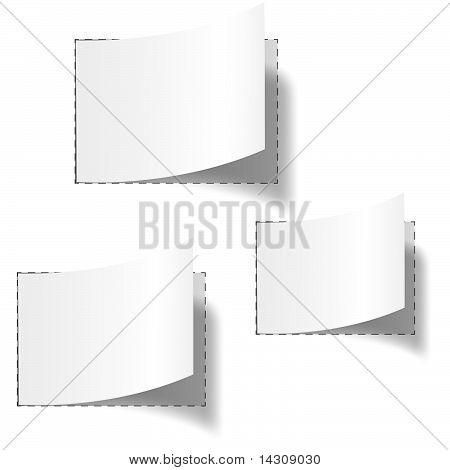 Set Of Three White Blank Tags
