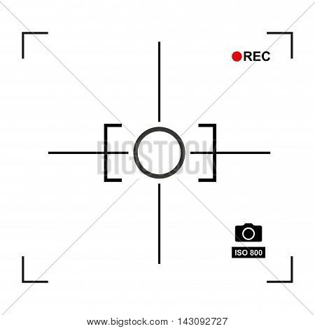 target photographic isolated icon vector illustration design