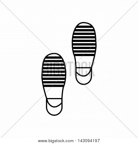 Traces of offender icon in outline style isolated on white background. Crimes symbol