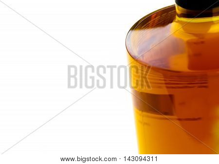 Whiskey Bottle On White Background