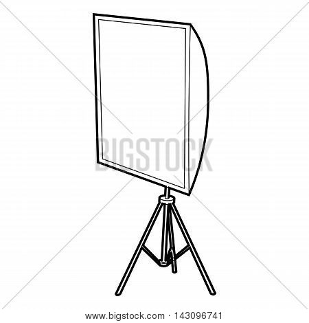 Softbox icon in outline style isolated on white background. Photography symbol