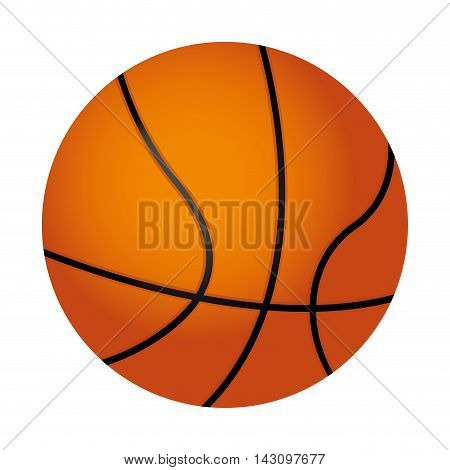 basketball ball isolated icon vector illustration design