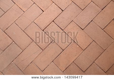 Arrow brown brick floor for texture and background