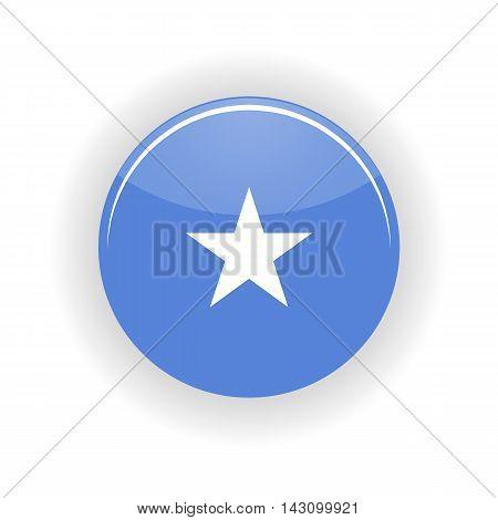 Somalia icon circle isolated on white background. Mogadishu icon vector illustration