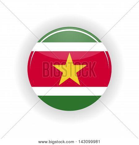 Surinam icon circle isolated on white background. Paramaribo icon vector illustration