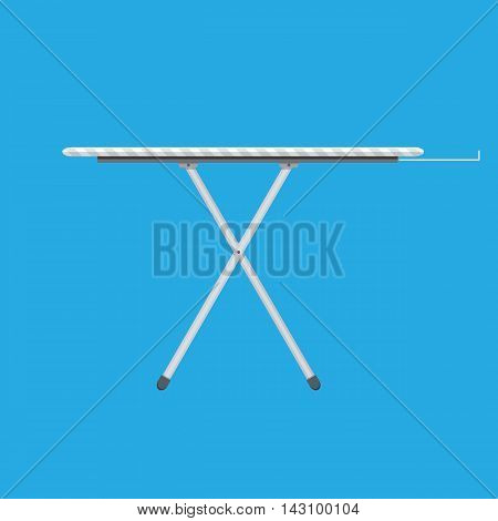 ironing board Icon, Ironing board with stripe pattern. vector illustration in flat style on blue background