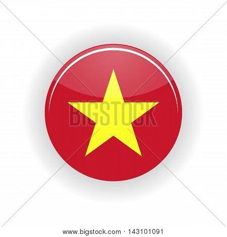 Vietnam icon circle isolated on white background. Hanoi icon vector illustration