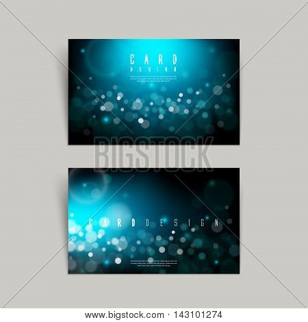 Gorgeous Sparkling Blue Business Card Design