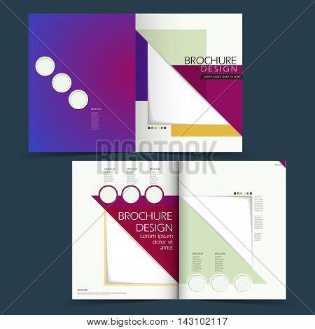 Modern Half-fold Brochure Design