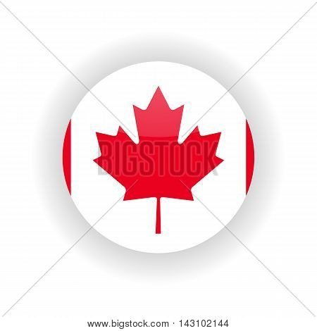 Canada icon circle isolated on white background. Ottawa icon vector illustration