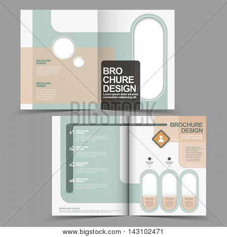 Elegant Half-fold Brochure Design With Geometric Element