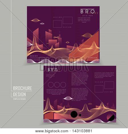Futuristic Style Tri-fold Brochure Design