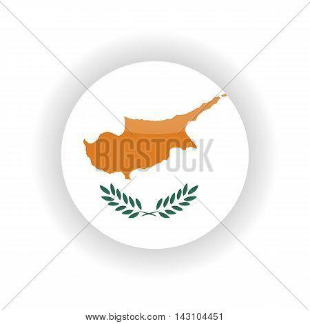 Cyprus icon circle isolated on white background. Nicosia icon vector illustration