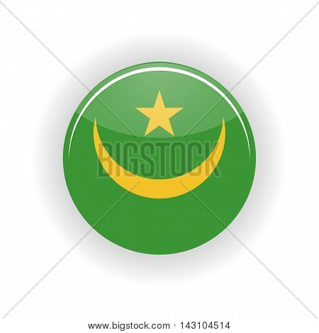 Mauritania icon circle isolated on white background. Nouakchott icon vector illustration