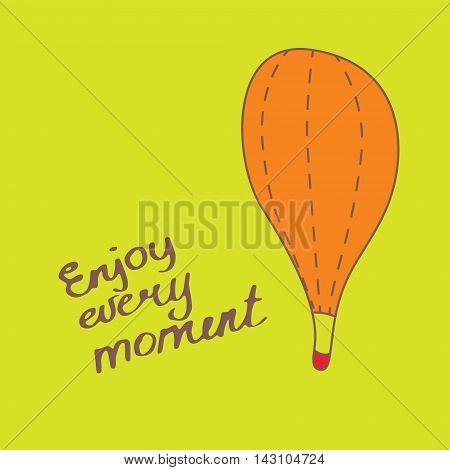 Cartoon airballoon. Vector illustration. Perfect for print, wall, nursery decor