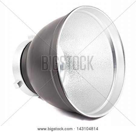 Black reflector isolated,reflector on the white background