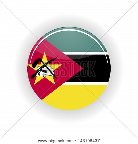 Mozambique icon circle isolated on white background. Maputo icon vector illustration