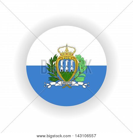 San Marino icon circle isolated on white background. San Marino icon vector illustration