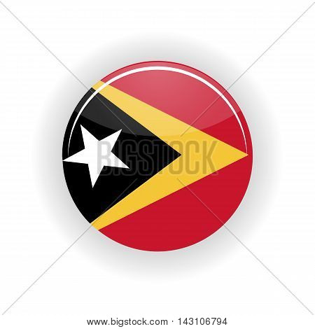 East Timor icon circle isolated on white background. Dili icon vector illustration
