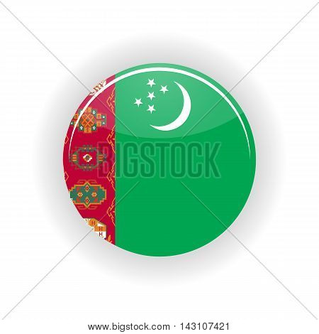 Turkmenistan icon circle isolated on white background. Ashgabat icon vector illustration