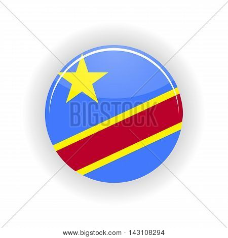 Democratic Republic of the Congo icon circle isolated on white background. Kinshasa icon vector illustration