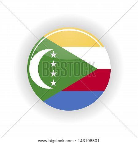 Union of the Comoros icon circle isolated on white background. Moroni icon vector illustration