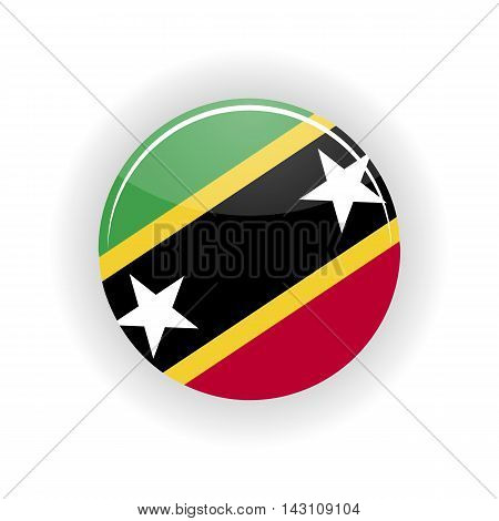 Saint Kitts and Nevis icon circle isolated on white background. Buster icon vector illustration