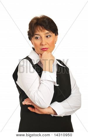 Worried Mature Business Woman