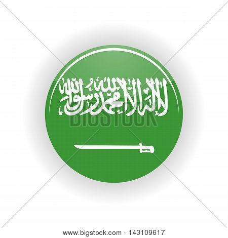 Saudi Arabia icon circle isolated on white background. Riyadh icon vector illustration