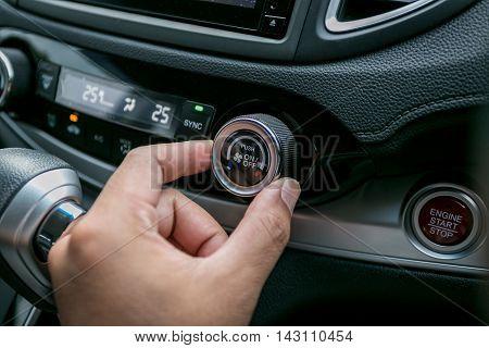 Car interior wheel controls and Air Car details