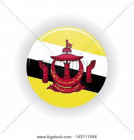 Brunei icon circle isolated on white background. Bandar Seri Bhagavan icon vector illustration