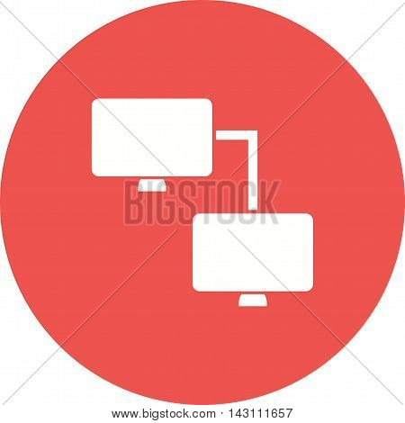 Network, computer, system icon vector image.Can also be used for networking. Suitable for mobile apps, web apps and print media.