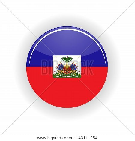 Haiti icon circle isolated on white background. Port au Prince icon vector illustration