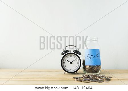 Money coin deposit of save money for prepare